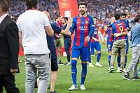 FC Barcelona's defender Gerard Pique during Copa del Rey (King's Cup) Final between Deportivo Alaves and FC Barcelona at Vicente Calderon Stadium in Madrid, May 27, 2017. Spain.<br /> (ALTERPHOTOS/BorjaB.Hojas) /NortePhoto.com