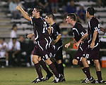 05 October 2007: Boston College celebrates after Paul Gerstenberger (2) scored at the 32:18 mark of the first half. Boston College defeated Duke University at Koskinen Stadium in Durham, North Carolina in an NCAA Men's soccer game.