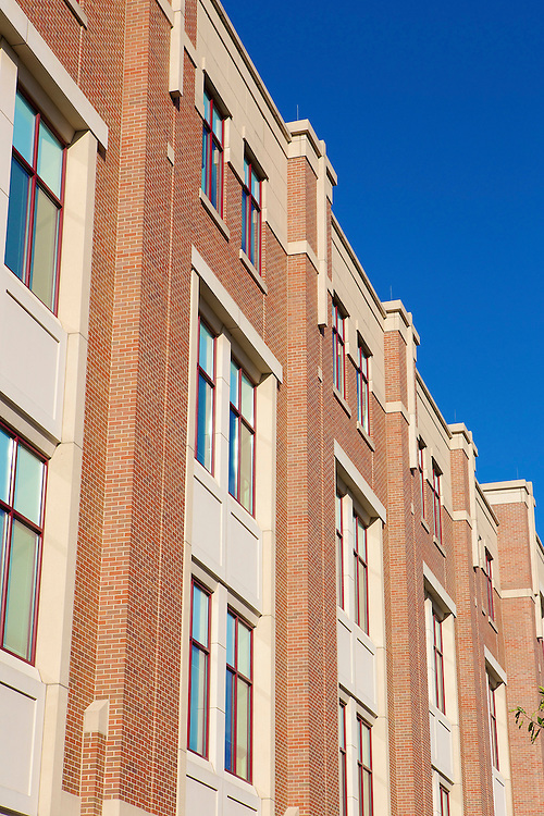 The facade of the McGowan South science building on a sunny afternoon October 7, 2014. (DePaul University/Jeff Carrion)
