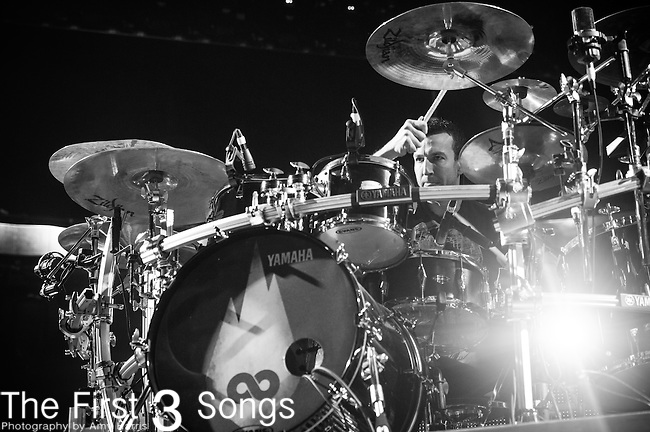 Steve Augustine of Thousand Foot Krutch performs during the 2014 Winter Jam Tour at the Wolstein Center in Cleveland, Ohio.