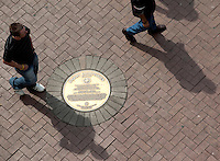 "14 SEP 2009 - SYDNEY, AUS - Plaque for Barry Humphries on the ""Writers Walk"" (PHOTO (C) NIGEL FARROW)"