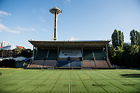 Seattle, WA - Wednesday, June 28, 2017: Memorial Stadium prior to a regular season National Women's Soccer League (NWSL) match between the Seattle Reign FC and the Chicago Red Stars.