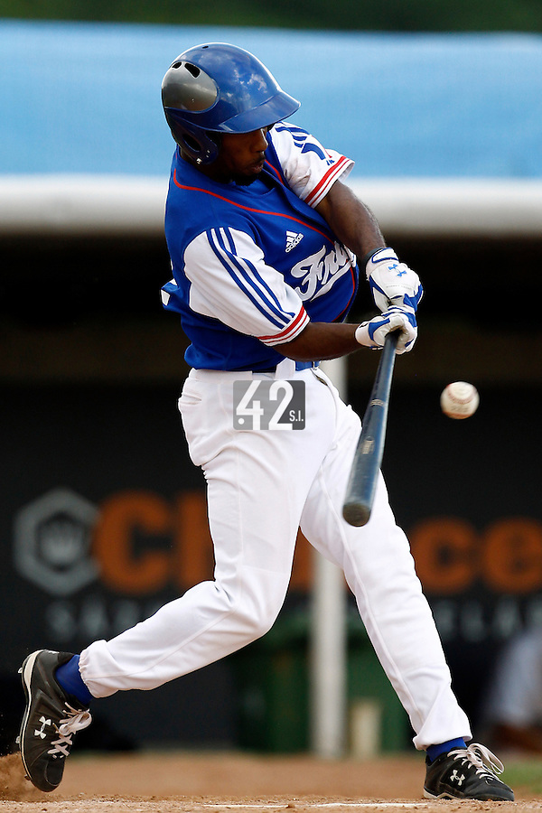 22 June 2011: Felix Brown of Team France is seen during AIST Alumni 5-3 win over France, at the 2011 Prague Baseball Week, in Prague, Czech Republic.