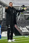 18.01.2020, Merkur Spiel-Arena, Duesseldorf, GER, DFL, 1. BL, Fortuna Duesseldorf vs. SV Werder Bremen, DFL regulations prohibit any use of photographs as image sequences and/or quasi-video<br /> <br /> im Bild / picture shows: Florian Kohfeldt (SV Werder Bremen) Gestik / Geste / gestikuliert / <br /> <br /> Foto © nordphoto/Mauelshagen