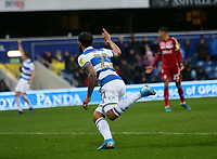 Nahki Wells of Queens Park Rangers celebrates during Queens Park Rangers vs Middlesbrough, Sky Bet EFL Championship Football at Loftus Road Stadium on 9th November 2019