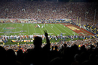 Rose Bowl, USC vs Texas.