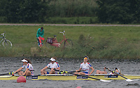 Rotterdam. Netherlands. GBR JW4-, Bow. India Somerside, Bryony Lawrence, Frances Russell and Alex Rankin 2016 JWRC, U23 and Non Olympic Regatta. {WRCH2016}  at the Willem-Alexander Baan.   Sunday  28/08/2016 <br /> <br /> [Mandatory Credit; Peter SPURRIER/Intersport Images]