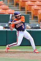 Sophomore infielder Adam Renwick (11) (Dorman High School) of the Clemson Tigers in a fall practice intra-squad Orange-Purple scrimmage on Saturday, September 26, 2015, at Doug Kingsmore Stadium in Clemson, South Carolina. (Tom Priddy/Four Seam Images)