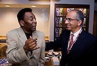 Pele. The group watched Brazil defeat the United States, 2-0, in an international friendly at the New Meadowlands Stadium in East Rutherford, NJ.