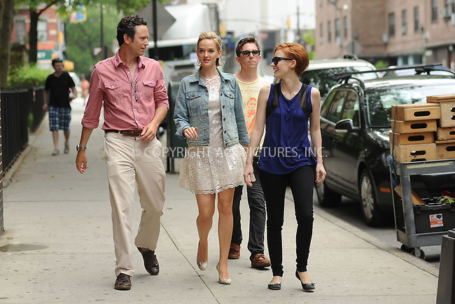 WWW.ACEPIXS.COM . . . . . .July 23, 2012...New York City....Will Beinbrink, Jess Weixler and Jessica Chastain on the Disappearance of Eleanor Rigby film set on July 23, 2012 in New York City. ....Please byline: KRISTIN CALLAHAN - WWW.ACEPIXS.COM.. . . . . . ..Ace Pictures, Inc: ..tel: (212) 243 8787 or (646) 769 0430..e-mail: info@acepixs.com..web: http://www.acepixs.com .