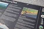 Detail of information board on Crag Walk, Walton on the Naze, Essex, England