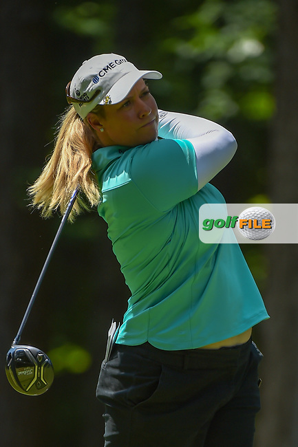 Brittany Lincicome (USA) watches her tee shot on 2 during round 1 of the U.S. Women's Open Championship, Shoal Creek Country Club, at Birmingham, Alabama, USA. 5/31/2018.<br /> Picture: Golffile | Ken Murray<br /> <br /> All photo usage must carry mandatory copyright credit (© Golffile | Ken Murray)