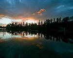 Sunset on American Lake near Tacoma, Washington. Jim Bryant Photo. ©2010. All Rights Reserved.