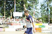FIERLJEPPEN: GRIJPSKERK: 27-08-2016, Nederlands Kampioenschap Fierljeppen/Polsstokverspringen, Oane Galama, ©foto Martin de Jong
