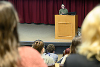 Ms Erin Cress, RVT spoke to Vet Technology students on small animal practice in main auditorium, during veterinary technology week.