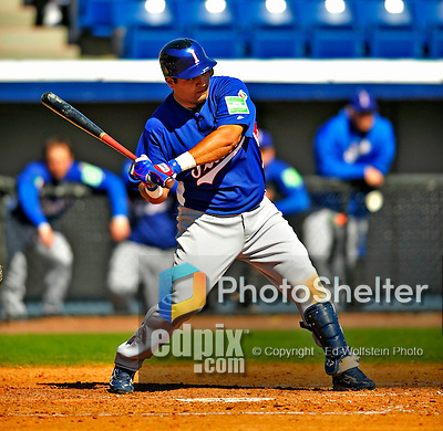 3 March 2009: Italy's infielder Giuseppe Mazzanti in action during an MLB Spring Training exhibition game against the Washington Nationals at Space Coast Stadium in Viera, Florida. The Nationals defeated Italy 9-6. Mandatory Photo Credit: Ed Wolfstein Photo