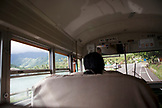 FRENCH POLYNESIA, Moorea. Riding the local bus.