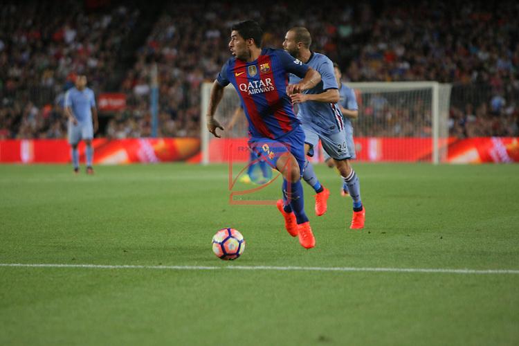 League Santander 2016/2017.<br /> 51e Trofeu Joan Gamper.<br /> FC Barcelona vs UC Sampdoria: 3-2.<br /> Luis Suarez.