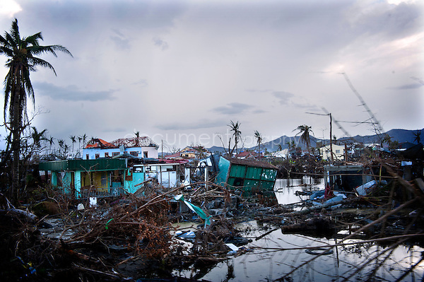 Magali Corouge / Documentography<br />Nov-Dec 2013, Tacloban, Leyte, Philippines.<br /><br />Landscape of Tacloban after the Typhoon Haiyan has reached this town of Leyte Province. Tacloban registers the worst storms ever recorded.