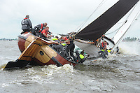 ZEILEN: TERHERNE: Snitser Mar, SKS skûtsjesilen, winnaar Gerhard Pietersma (Earnewâld), ©foto Martin de Jong