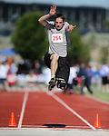 Zach Green, of Washoe, competes in the long jump event the Special Olympics Nevada 2013 Summer Games in Reno, Nev., on Saturday, June 1, 2013. <br /> Photo by Cathleen Allison