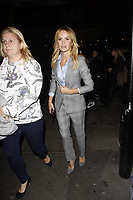 LONDON, ENGLAND - OCTOBER 08 :  Amanda Holden leaves the screening of 'Child Of Mine', at Curzon Soho on October 08, 2018 in London, England.<br /> CAP/AH<br /> &copy;AH/Capital Pictures
