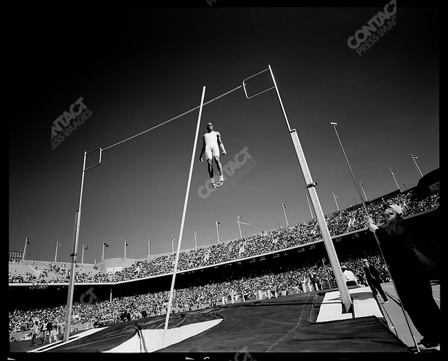 Pole vault, The Penn Relays, Philadelphia, Pennsylvania, USA, April 1996