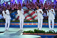 "Washington, DC - July 3, 2017: The legendary Motown soul group The Four Tops perform at the ""Capitol Fourth"" rehearsal concert on the west lawn of the U.S. Capitol July 3, 2017. Duke Fakir (right) is the last remaining original member of the group.  (Photo by Don Baxter/Media Images International)"