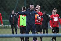 Zinédine Zidane continue sa formation d'entraîneur à Rennes - France