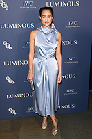 Natalie Emmanuel<br /> arriving for the LUMINOUS Gala 2019 at the Roundhouse Camden, London<br /> <br /> ©Ash Knotek  D3522 01/10/2019
