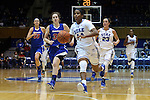 19 December 2014: Duke's Ka'lia Johnson (14). The Duke University Blue Devils hosted the University of Massachusetts Lowell River Hawks at Cameron Indoor Stadium in Durham, North Carolina in a 2014-15 NCAA Division I Women's Basketball game. Duke won the game 95-48.