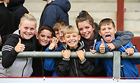 Fleetwood Town fans pose for a photo after the match<br /> <br /> Photographer Alex Dodd/CameraSport<br /> <br /> The EFL Sky Bet League One - Fleetwood Town v Accrington Stanley - Saturday 15th September 2018  - Highbury Stadium - Fleetwood<br /> <br /> World Copyright &copy; 2018 CameraSport. All rights reserved. 43 Linden Ave. Countesthorpe. Leicester. England. LE8 5PG - Tel: +44 (0) 116 277 4147 - admin@camerasport.com - www.camerasport.com