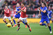 4th November 2017, Ashton Gate, Bristol, England; EFL Championship football, Bristol City versus Cardiff City; Craig Bryson of Cardiff City and Bobby Reid of Bristol City compete for the ball