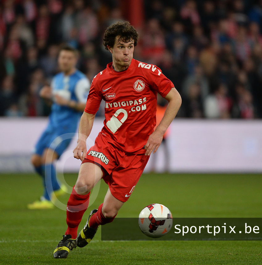KV Kortrijk : Gertjan De Mets <br /> foto VDB / BART VANDENBROUCKE