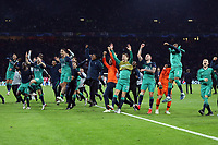 Tottenham celebrate reaching the champions League final after AFC Ajax vs Tottenham Hotspur, UEFA Champions League Football at the Johan Cruyff Arena on 8th May 2019