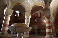 L'interno del Battistero della Chiesa di San Pietro in Consavia, ad Asti.<br /> Interior view of the Baptistery of the Church of San Pietro in Consavia, Asti.<br /> UPDATE IMAGES PRESS/Riccardo De Luca