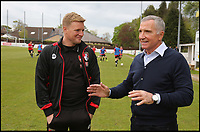 BNPS.co.uk (01202 558833)<br /> Pic: RichardCrease/BNPS<br /> <br /> Howe v Souness in the dugouts...<br /> <br /> Charity football match in aid of the Louis Ross Foundation held at Wimborne Town Football Club  with guest managers Eddie Howe and Graeme Souness taking charge of the  two teams made up of former school friends and football friends of Louis, 17, who died in a skiing accident in France.