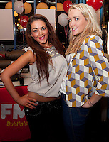 NO REPRO FEE. 8/11/2011. The Counter Celebrates its first birthday. Pictured at the Counter Burber Restaurant on Suffolk St Dublin are Caroline Connor and Cloragh Hanvey from Halo. Picture James Horan /Collins