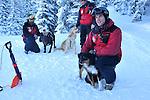 Crested Butte, Colorado ski patrolman Zach Springer and his avalanche rescue job, Emma.