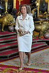 Queen Sofia of Spain attends the Royal Palace reception on the National Military Parade.October 12,2012.(ALTERPHOTOS/Pool)
