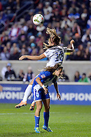 Bridgeview, IL - Friday, October 17, 2014: The USWNT play Guatemala in a CONCACAF Women's Championship game at Toyota Park, in Bridgeview, IL.  The USWNT defeated Guatemala by the score of 5-0.