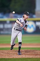 Grand Junction Rockies relief pitcher Jacob Kostyshock (35) during a Pioneer League game against the Grand Junction Rockies at Dehler Park on August 15, 2019 in Billings, Montana. Billings defeated Grand Junction 11-2. (Zachary Lucy/Four Seam Images)