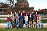 Ohio University Mathematics faculty poses for a group portrait near Morton Hall on November 15, 2016.