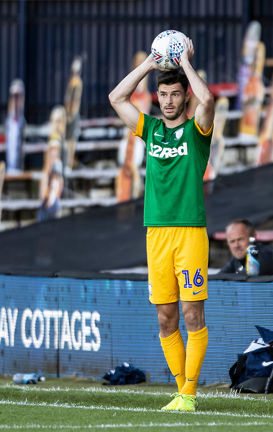 Preston North End's Andrew Hughes prepares to take a throw-in <br /> <br /> Photographer Andrew Kearns/CameraSport<br /> <br /> The EFL Sky Bet Championship - Luton Town v Preston North End - Saturday 20th June 2020 - Kenilworth Road - Luton<br /> <br /> World Copyright © 2020 CameraSport. All rights reserved. 43 Linden Ave. Countesthorpe. Leicester. England. LE8 5PG - Tel: +44 (0) 116 277 4147 - admin@camerasport.com - www.camerasport.com