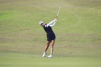 Jenny Shin (KOR) in action on the 1st during Round 3 of the HSBC Womens Champions 2018 at Sentosa Golf Club on the Saturday 3rd March 2018.<br /> Picture:  Thos Caffrey / www.golffile.ie<br /> <br /> All photo usage must carry mandatory copyright credit (&copy; Golffile   Thos Caffrey)