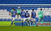4th January 2020; Cardiff City Stadium, Cardiff, Glamorgan, Wales; English FA Cup Football, Cardiff City versus Carlisle; Jack Bridge of Carlisle United scores his sides first goal in the 12th minute making the score 0-1 - Strictly Editorial Use Only. No use with unauthorized audio, video, data, fixture lists, club/league logos or 'live' services. Online in-match use limited to 120 images, no video emulation. No use in betting, games or single club/league/player publications
