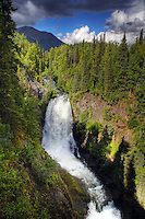 Juneau Falls along the Resurrection Pass Trail, Kenai Peninsula, Chugach National Forest, Alaska.