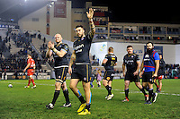 Matt Banahan of Bath Rugby acknowledges the crowd after the match. European Rugby Champions Cup match, between RC Toulon and Bath Rugby on January 10, 2016 at the Stade Mayol in Toulon, France. Photo by: Patrick Khachfe / Onside Images