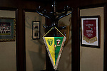 Glentoran 2 Cliftonville 1, 22/10/2016. The Oval, NIFL Premiership. An commemorative pennant on display in the boardroom at The Oval, Belfast, pictured before Glentoran hosted city-rivals Cliftonville in an NIFL Premiership match. Glentoran, formed in 1892, have been based at The Oval since their formation and are historically one of Northern Ireland's 'big two' football clubs. They had an unprecendentally bad start to the 2016-17 league campaign, but came from behind to win this fixture 2-1, watched by a crowd of 1872. Photo by Colin McPherson.