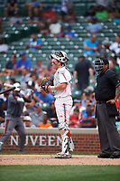 Mason Doolittle (22) of Jupiter High School in Jupiter, Florida during the Under Armour All-American Game presented by Baseball Factory on July 23, 2016 at Wrigley Field in Chicago, Illinois.  (Mike Janes/Four Seam Images)